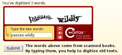 Re-Captcha Beispiel Example