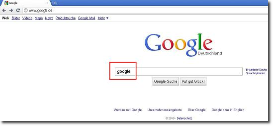 Google sucht Google