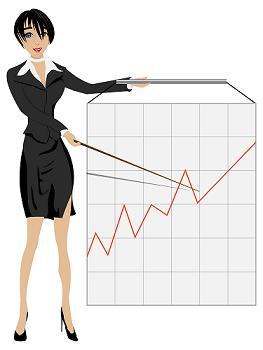 Business woman im Online-Marketing