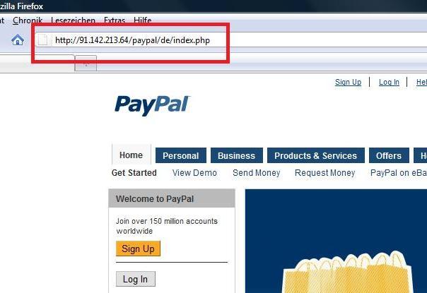 Paypal Phishingseite Betrug Phishing