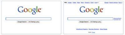 Google neue Startseite Search before after